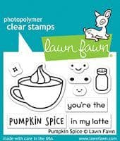 LF1462 S ~ PUMPKIN SPICE ~ CLEAR STAMPS BY LAWN FAWN