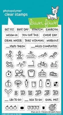 LF1483 ~ PLAN ON IT - FITNESS ~ CLEAR STAMPS BY LAWN FAWN