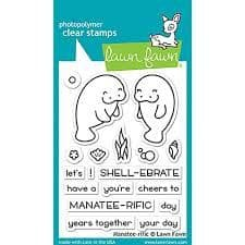 LF1688 - Manatee-rific  - CLEAR STAMPS  - BY LAWN FAWN