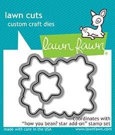 LF1691 S ~ How you Bean? Star Add On ~ DIES BY LAWN FAWN