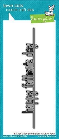 LF1708 ~ Father's Day Line Border ~ DIES BY LAWN FAWN