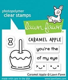 LF1759 S ~ Caramel Apple ~ CLEAR STAMPS BY LAWN FAWN