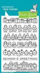 LF1769 - Simply Celebrate Winter  - CLEAR STAMPS - BY LAWN FAWN