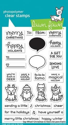 LF1778 ~ Say What? Christmas Critters ~ CLEAR STAMPS BY LAWN FAWN
