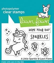 LF1818 S ~ A Little Sparkle ~ CLEAR STAMPS BY LAWN FAWN