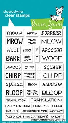 LF1964 ~ Critter Chatter: Pets  ~ CLEAR STAMPS BY LAWN FAWN