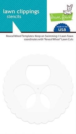 LF1994  M ~ Keep on Swimming ~ Reveal Wheel template ~ LAWN CLIPPINGS stencils