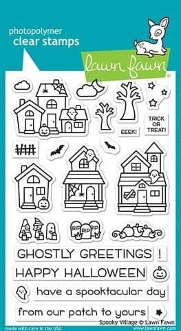 LF2014 ~ Spooky Village ~ CLEAR STAMPS BY LAWN FAWN