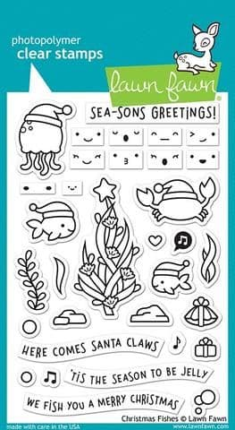 LF2024 ~ Christmas Fishes ~ CLEAR STAMPS BY LAWN FAWN