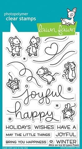 LF2031 ~ Mice on Ice ~ CLEAR STAMPS BY LAWN FAWN
