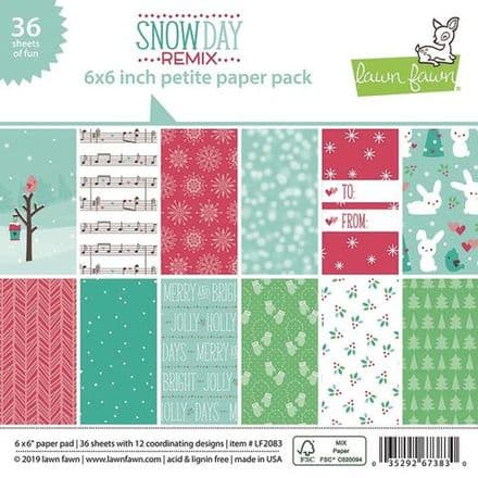 LF2083 ~ Snowy Day Remix ~ 6X6 PETITE PAPER PACK BY LAWN FAWN