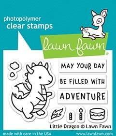 LF2323 S ~ Little Dragon  ~ stamps BY LAWN FAWN