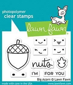 LF2403 S ~ Big Acorn sayings stamps BY LAWN FAWN