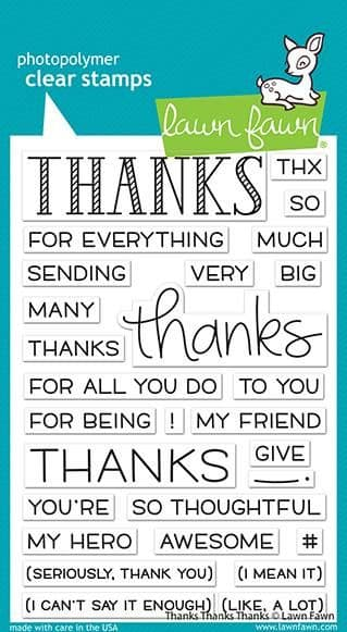 LF2405 ~ thanks thanks thanks sayings stamps BY LAWN FAWN