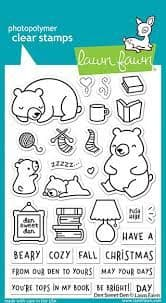 LF2409 ~ den sweet den sayings stamps BY LAWN FAWN