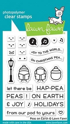 LF2421 peas on earth sayings stamps BY LAWN FAWN