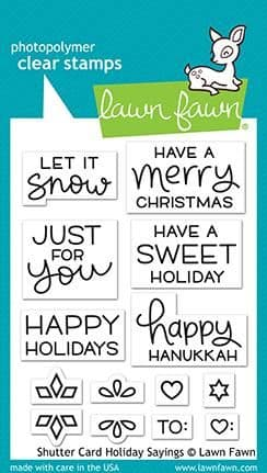 LF2430  Shutter card holiday sayings stamps BY LAWN FAWN