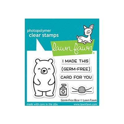 LF2462 - germ-free bear - Clear Stamps