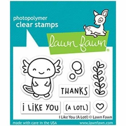 LF2464  S ~ I like you (a lotl) - clear stamps -   BY LAWN FAWN