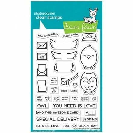 LF2466  special delivery sayings stamps BY LAWN FAWN