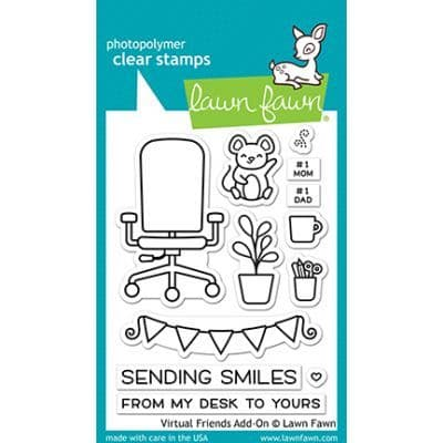 LF2558 m - virtual friends add-on - Clear Stamps
