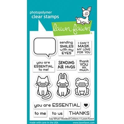 LF2560 - say what? masked critters - Clear Stamps
