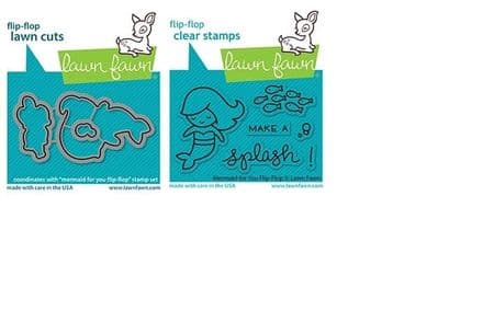 LF2595 - mermaid for you flip-flop - Lawn Fawn Clear Stamps