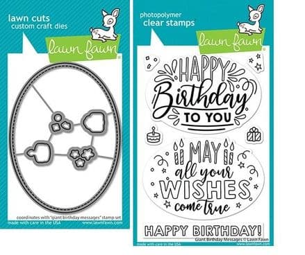 LF2599 - giant birthday messages - Lawn Fawn Clear Stamps