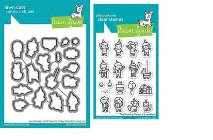 LF2601 - tiny birthday friends - Lawn Fawn Clear Stamps