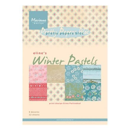 PB 7046 ~  ELINE'S WINTER PASTELS ~ A5 Pretty Papers Bloc by Marianne Designs