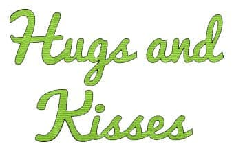 PCD019~HUGS AND KISSES ~ CUTTING DIE ~ Presscut by Crafts Too