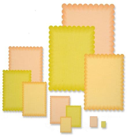 PCD080 ~ SMALLER SCALLOP RECTANGLE NESTING DIES ~ PRESSCUT Cut and Emboss Die