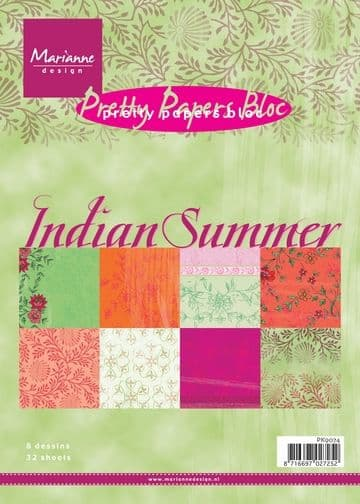 PK 9076 ~  INDIAN SUMMER ~ A5 Pretty Papers Bloc ~ Marianne Designs