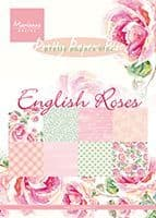 PK 9143 ~ ENGLISH ROSES ~ Pretty Paper Bloc ~ Marianne Designs