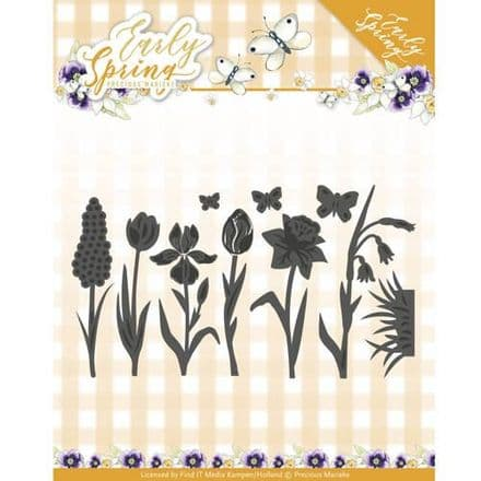 PM10115 ~ Early Spring ~ Springflowers and Butterflies  ~ Precious Marieke