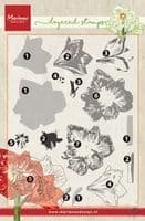TC0860  Tiny's Amaryllis (Layering) ~  Marianne Designs Clear stamp