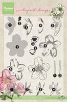 TC0861  Tiny's Helleborus (Layering) ~  Marianne Designs Clear stamp