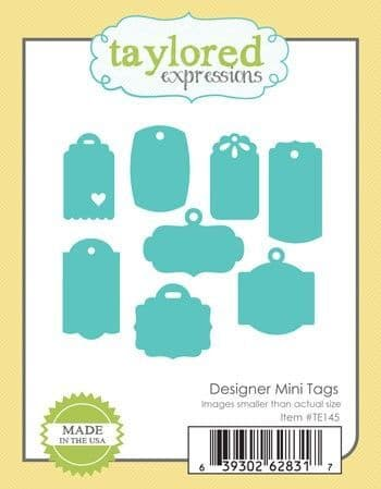 TE145 ~DESIGNER MINI TAGS ~ dies by Taylored Expressions