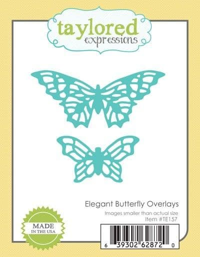 TE157 ~ ELEGANT BUTTERFLIES OVERLAYS ~ dies by Taylored Expressions