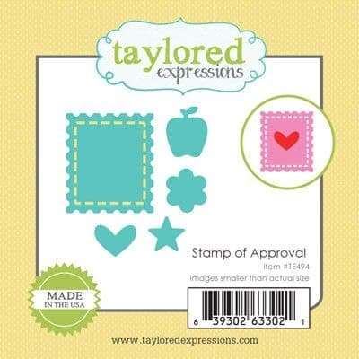 TE494 ~ LITTLE BITS - STAMP OF APPROVAL ~ dies by Taylored Expressions