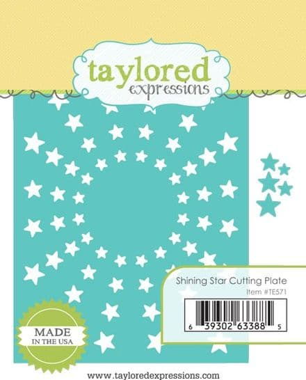 TE571 ~ SHINING STAR CUTTING PLATE ~ dies by Taylored Expressions