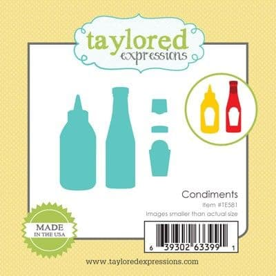TE581 ~ LITTLE BITS - CONDIMENTS ~ dies by Taylored Expressions