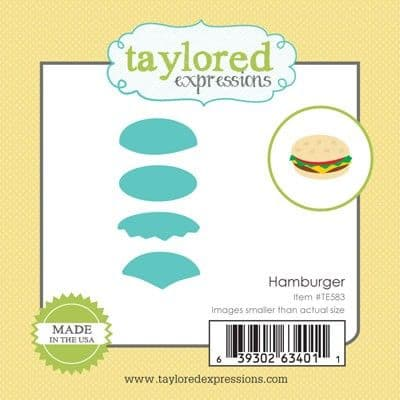 TE583 ~ LITTLE BITS - HAMBURGER ~ dies by Taylored Expressions