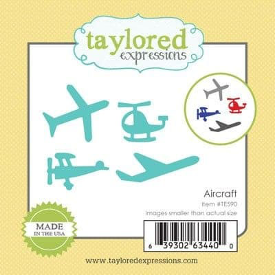 TE590 ~ LITTLE BITS - AIRCRAFT ~ dies by Taylored Expressions