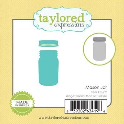 TE609 ~ LITTLE BITS - MASON JAR ~ dies by Taylored Expressions
