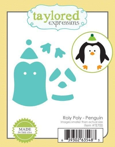 TE700 ~ ROLY POLY PENGUIN ~ dies by Taylored Expressions