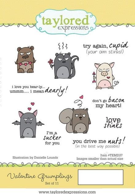 TEMD037 ~ VALENTINE GRUMPLINGS ~ set 10 stamps ~ Taylored Expressions