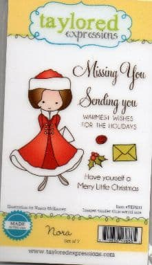TEPS033 ~ NORA - Christmas girl ~ set 7 stamps ~ Taylored Expressions