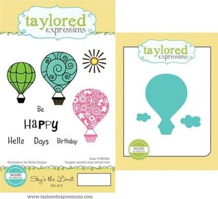 TEPS044 ~ SKY'S THE LIMIT- SET OF Stamps with coordinating dies by Taylored Expressions
