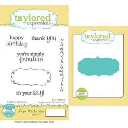 TEPS100 ~ FROM ME TO YOU - SET OF 6 ~ Stamps with coordinating die by Taylored Expressions